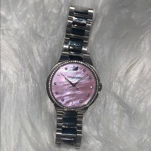 City Pink Mother of Pearl Dial Ladies Watch